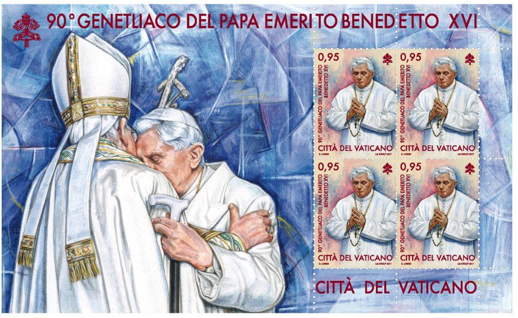 Ватикан выпустит почтовые марки в честь 90-летия Бенедикта XVI и 100-летия Фатимских явлений