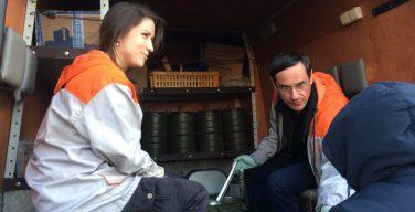 Генеральный консул Франции в Петербурге раздал еду бездомным