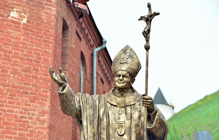 В Тобольске открыли памятник Иоанну Павлу II (ФОТО)
