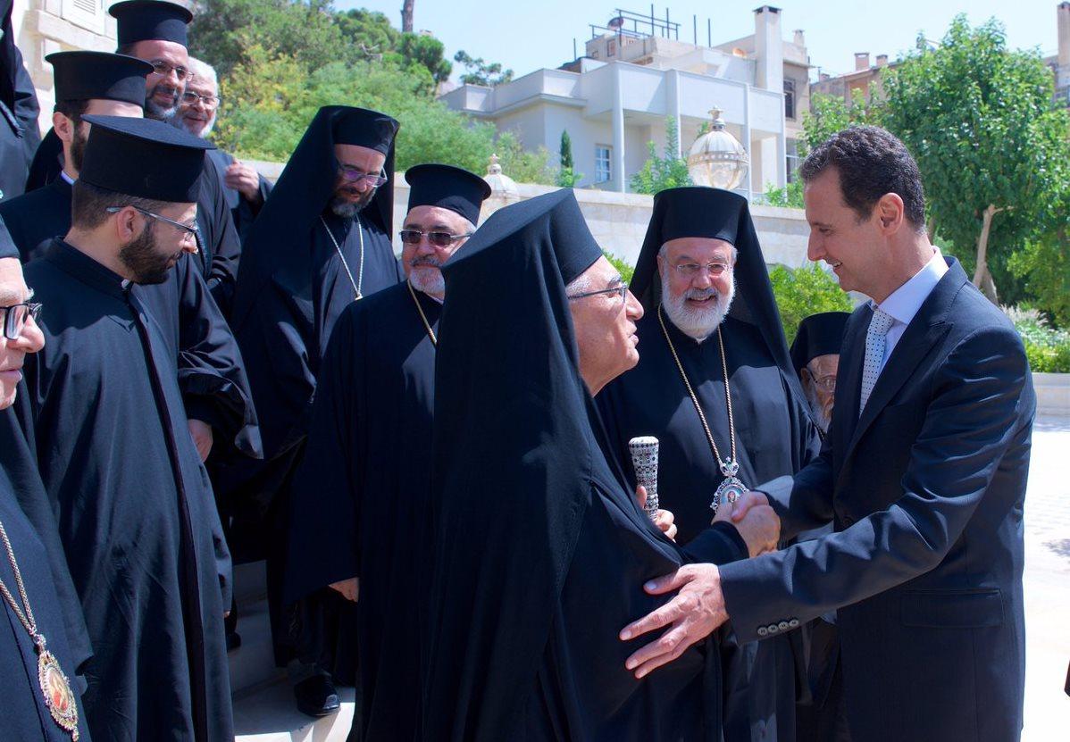Башар Асад встретился с новым патриархом Мелькитской Церкви