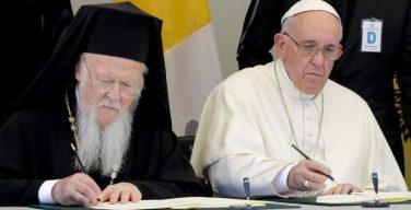 Совместное послание Папы Франциска и Патриарха Варфоломея