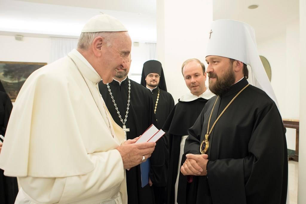 Папа Франциск встретился с митрополитом Иларионом (ИНТЕРВЬЮ + ФОТО)