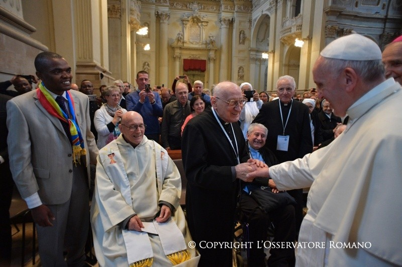 Встреча Папы в Болонье с духовенством и монашествующими (+ ФОТО)
