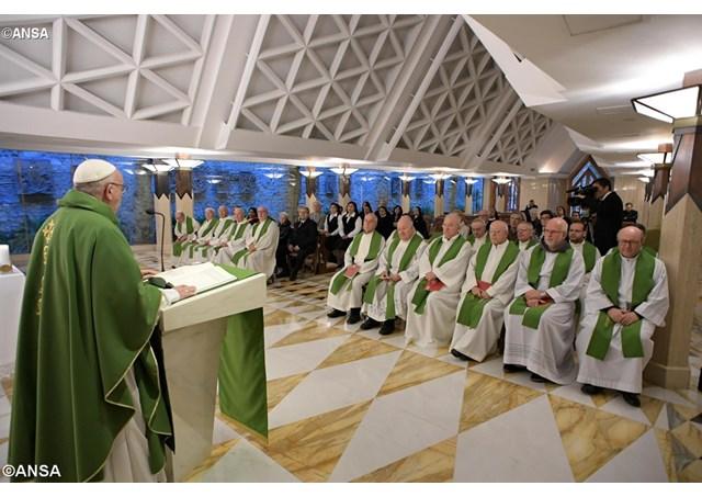Папа Франциск на Мессе в Доме Св. Марфы: Царство Божие не любит рекламы…