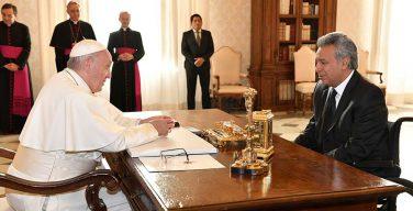 Папа встретился с президентом Республики Эквадор