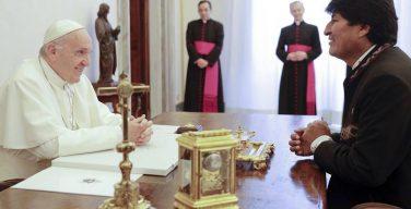 Папа Франциск встретился с Эво Моралесом (ФОТО)