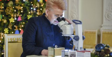 Литва подарила Папе Франциску самый миниатюрный рождественский вертеп