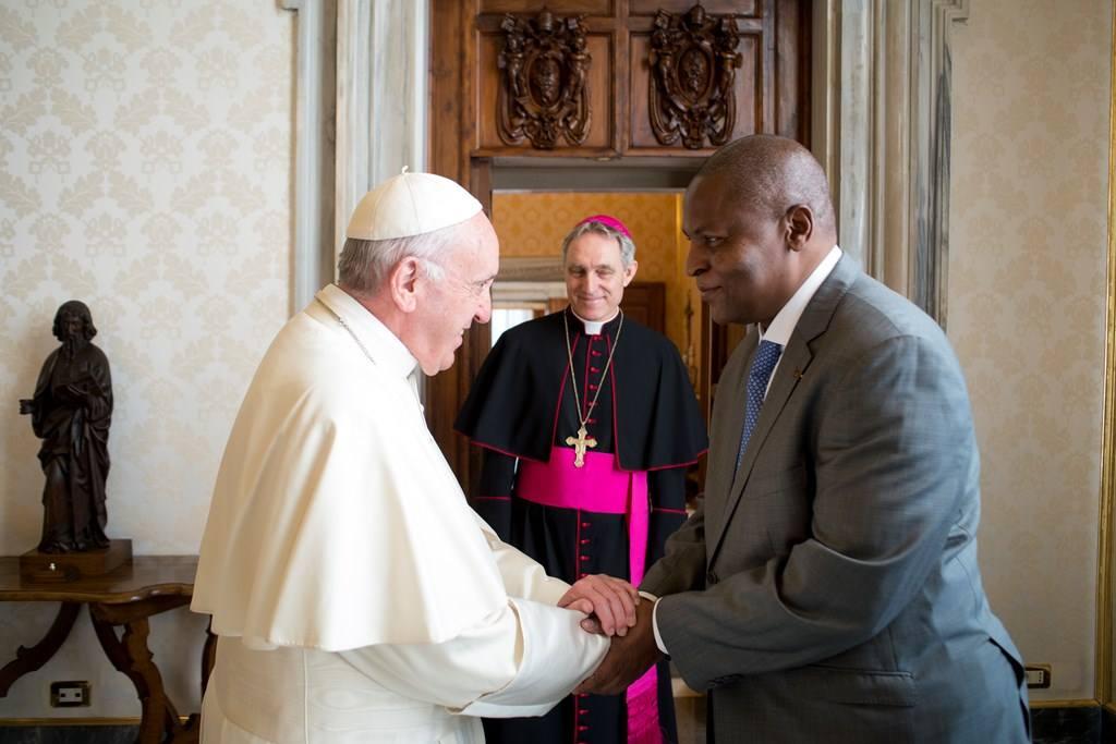 Папа встретился с президентом Центральноафриканской Республики