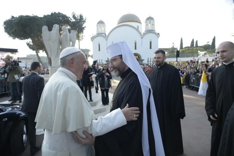 Глава УГКЦ Папе Франциску: «Надеемся, что этот визит является только первым шагом и залогом Ваших будущих посещений Украины»