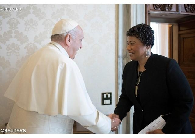 Папа Франциск встретился с дочерью Мартина Лютера Кинга