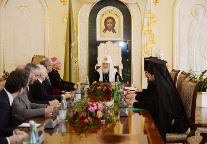 Патриарх Кирилл встретился с делегацией итальянской провинции Тренто