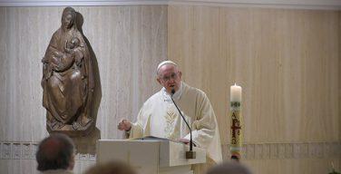 На очередной Мессе в Доме Св. Марфы Папа Франциск проповедовал о христианском свидетельстве