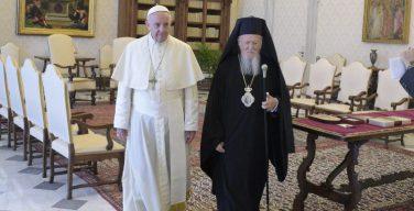 Папа Франциск встретился с Патриархом Варфоломеем и участниками форума «Centessimus Annus»