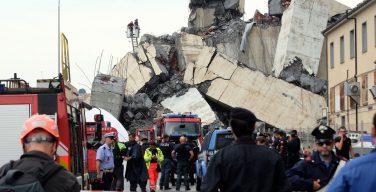 Число погибших при обрушения моста близ итальянской Генуи возросло до 35 человек