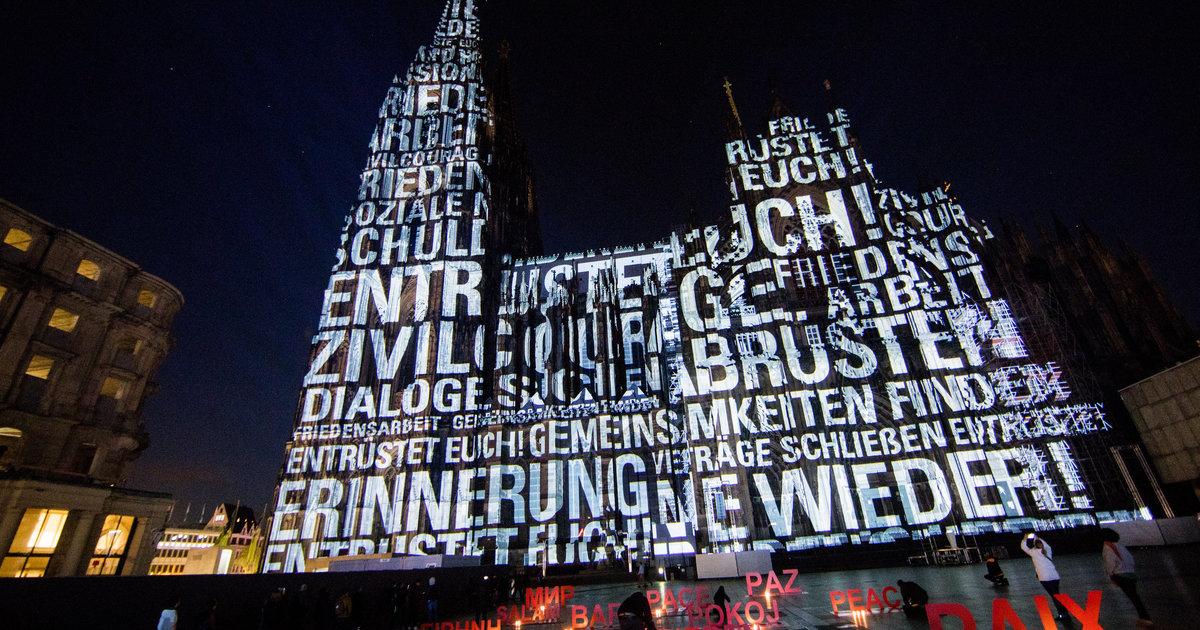 Кёльнский собор украсили световой инсталляцией к 100-летию окончания Первой мировой войны (ВИДЕО)