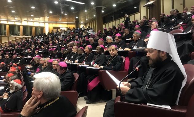 Митрополит Иларион выступил на заседании Синода епископов Католической Церкви