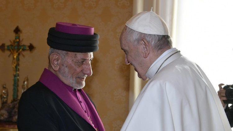 Папа Франциск встретился с Патриархом Ассирийской Церкви Востока