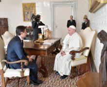 Папа встретился с итальянским премьер-министром