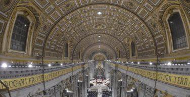 Новое светодиодное освещение для базилики Святого Петра