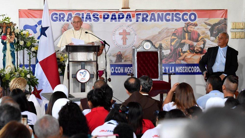 Слово Папы Франциска перед чтением молитвы «Ангел Господень» в ходе Апостольского визита в Панаму. 27 января 2019 г., Панама, Дом Милосердного Самарянина