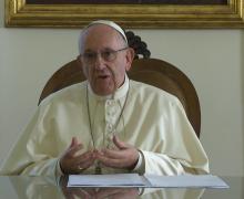 Видеопослание Папы по случаю Всемирного правительственного саммита