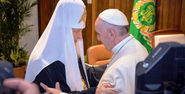 Папа Франциск поздравил Патриарха Кирилла с 10-летием интронизации
