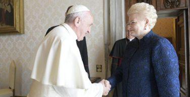 Папа Франциск встретился с президентом Литовской Республики