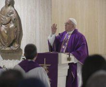 Папа Франциск в Доме Св. Марфы: откроем свои сердца Богу пока есть время