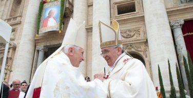 Торжество Святого Иосифа — шестая годовщина начала понтификата Папы Франциска и тезоименитство Папы на покое Бенедикта XVI