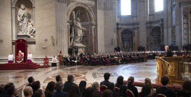 Служба Воспоминания Страстей Господних в соборе Святого Петра