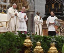 Служение Папы Франциска в Великий Четверг