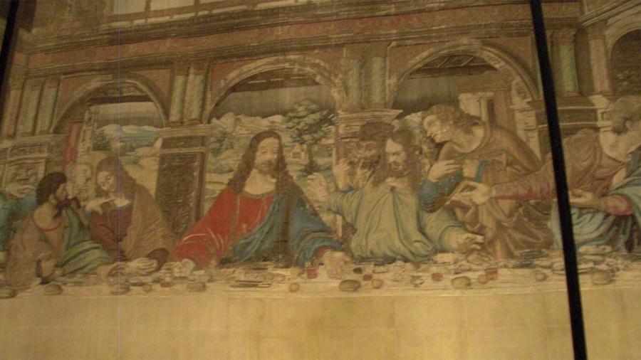 В Ватикане отреставрировали огромный гобелен с «Тайной вечерей»