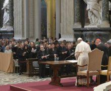 Папа встретился с духовенством Римской епархии