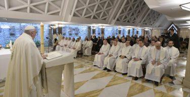 Папа Франциск на Мессе в Доме Св. Марфы размышлял о мире Христовом