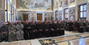 Папа Франциск принял на аудиенции францисканцев-конвентуалов