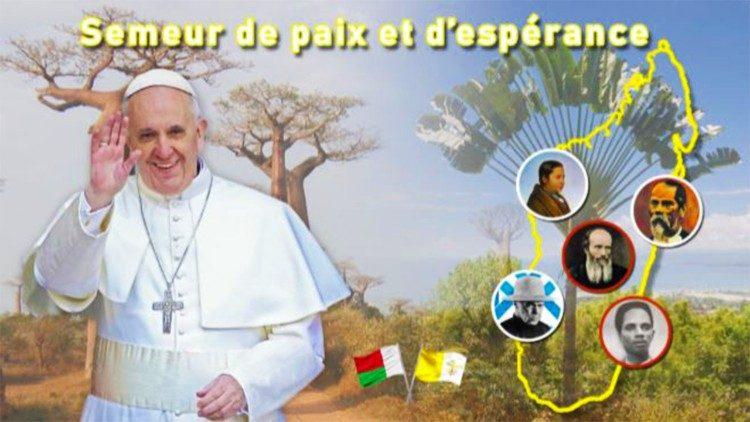 Почта Мадагаскара откликнулась на предстоящий визит Папы выпуском специальной марки