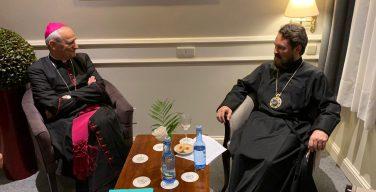 Председатель Отдела внешних церковных связей Московского Патриархата встретился с духовником Общины Святого Эгидия