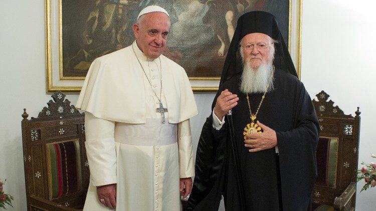Папа Франциск Патриарху Варфоломею: братья-апостолы Петр и Андрей должны быть вместе