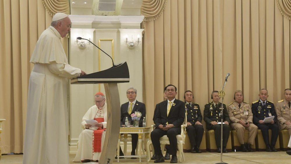 Апостольский визит Папы Франциска в Таиланд: день первый, начало