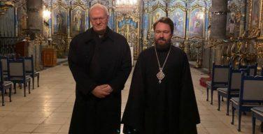 Митрополит Волоколамский Иларион встретился с архиепископом Эстергомским и Будапештским кардиналом Петером Эрдё