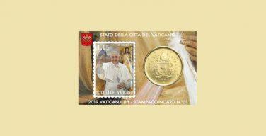 К 50-летию священства Папы Франциска Почтовая служба Ватикана выпустила юбилейные марки