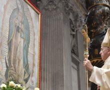Папа Франциск возглавил Мессу в день литургического поминовения Богородицы Гваделупской