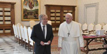 Папа Римский и Генеральный Секретарь ООН выступили с совместным посланием