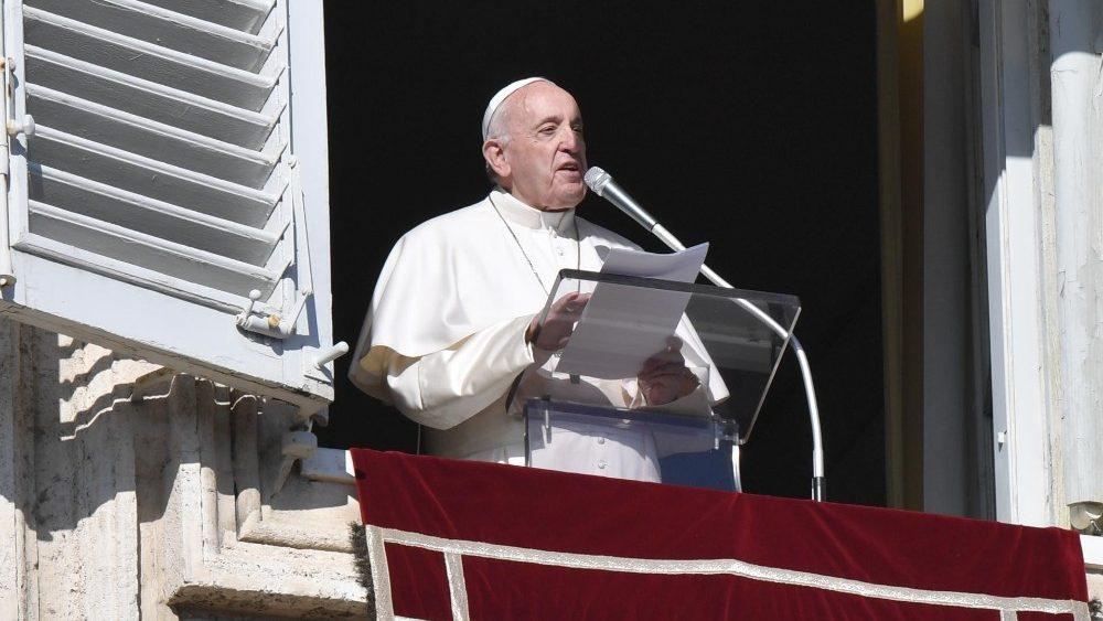 Слово Папы Франциска перед чтением молитвы «Ангел Господень» в торжество Пресвятой Богородицы Марии. 1 января 2020 г., площадь Св. Петра
