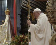 В торжество Пресвятой Богородицы Марии Папа Франциск возглавил Мессу в соборе Святого Петра