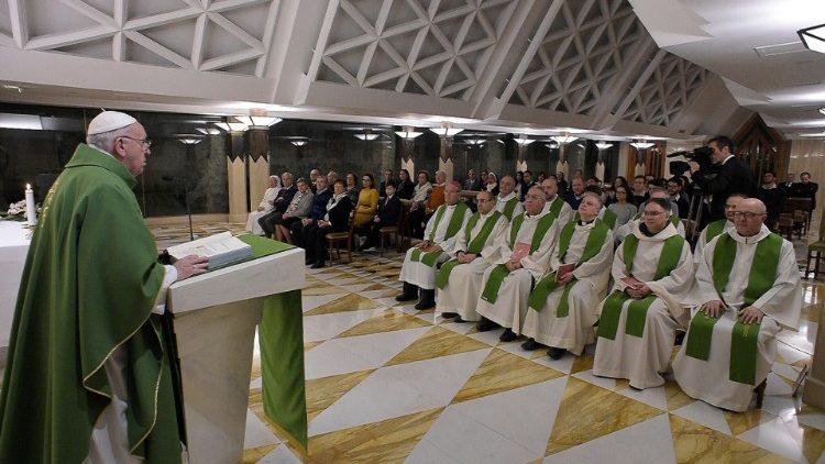 На Мессе в Доме Святой Марфы Папа Франциск прокомментировал эпизод встречи Иисуса с прокаженным