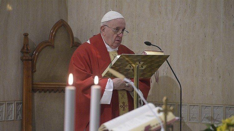 На Мессе в Доме Святой Марфы Папа Франциск размышлял о безвозмездном характере дара призвания