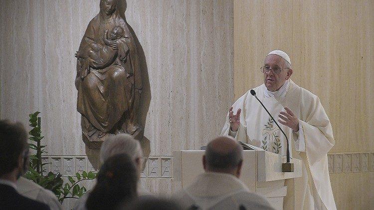 На Мессе в Доме Святой Марфы Папа Франциск говорил об опасности утраты чувства греха
