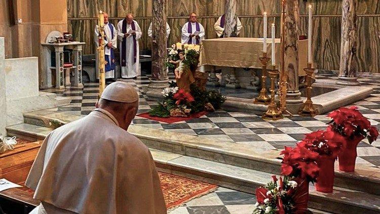 Папа Франциск помолился на похоронах преподавательницы патристики