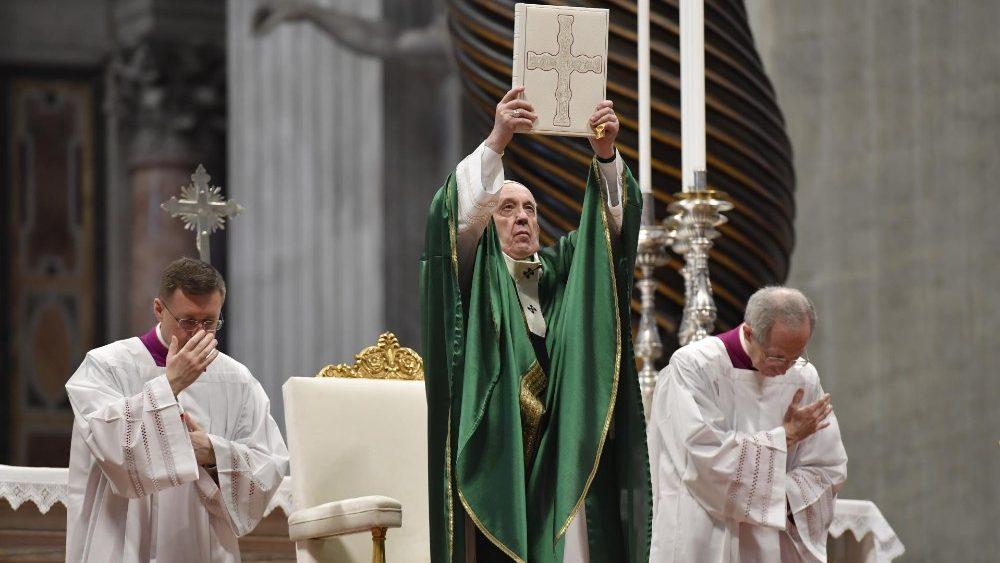 Проповедь Папы Франциска на Мессе Первого Воскресенья Слова Божия. 26 января 2020 г., собор Святого Петра
